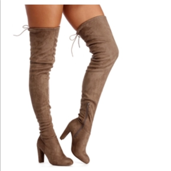 a52e0f503c Taupe Suede Thigh High Boots. NWT. Windsor